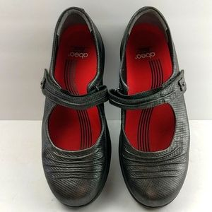 Abeo Rocs Bethany Pewter Leather Shoes Size 8M